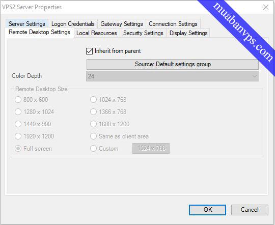Hướng dẫn chỉnh full màn hình trong Remote Desktop Connection Manager