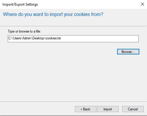 Hướng dẫn chuyển cookies sang máy khác