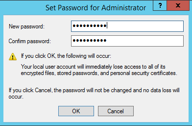 đổi password trên vps