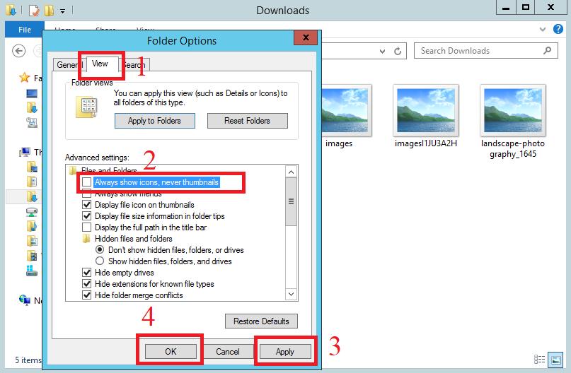 Hướng dẫn sửa lỗi không hiển thị ảnh xem trước trên VPS Windows